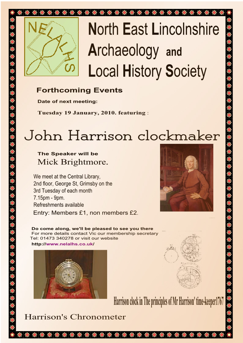 18 January Poster for John Harrison clockmaker