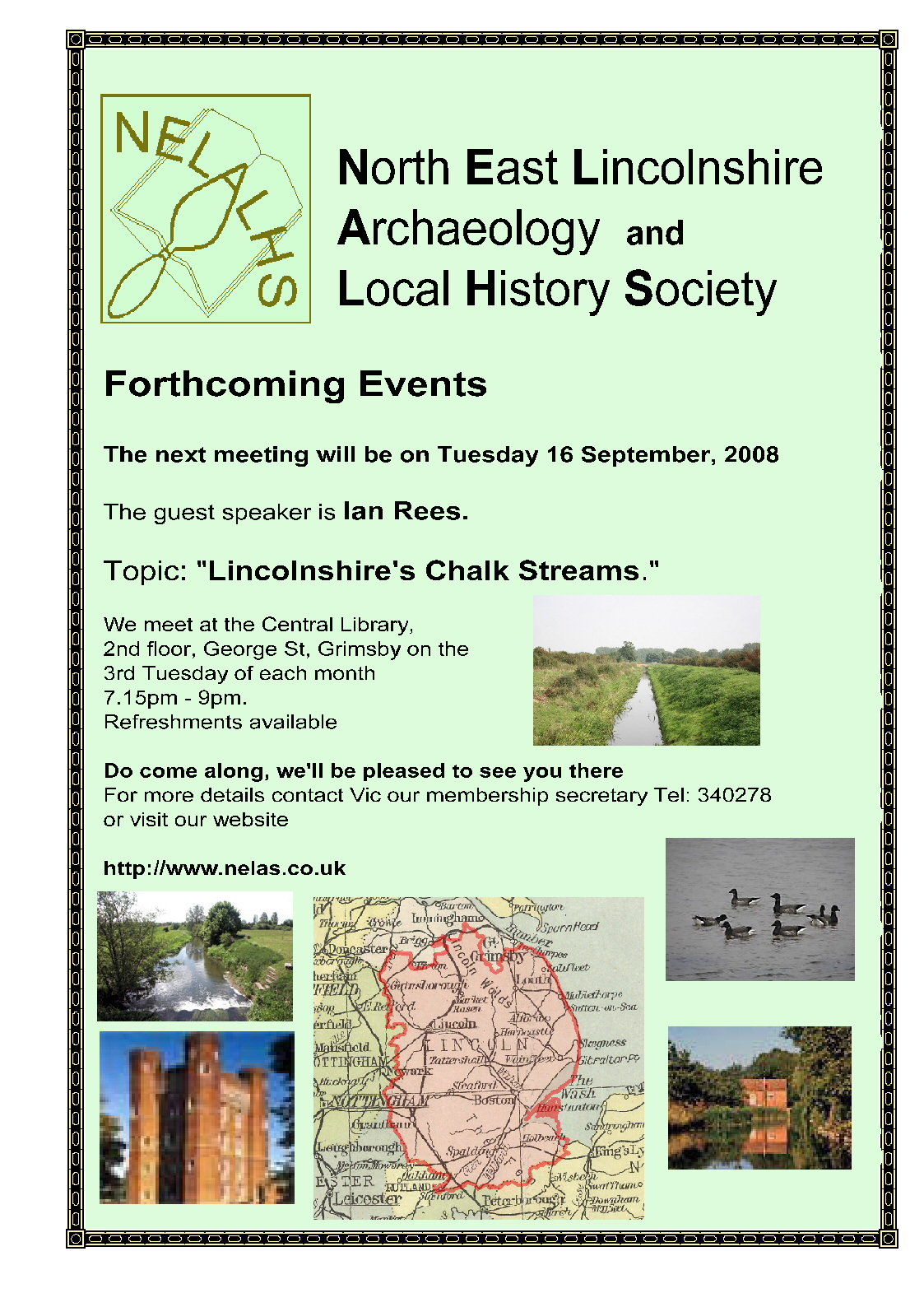 6 September Poster for chalk stream talk