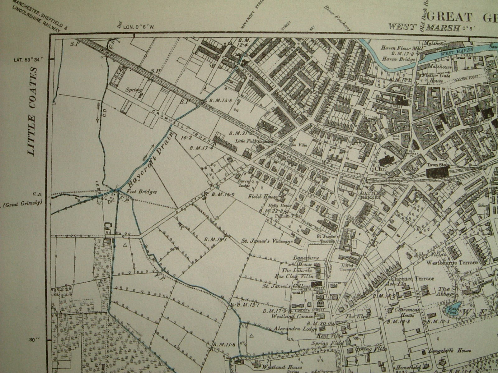 Ancient and recent maps of Grimsby North East Lincolnshire